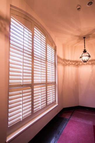 Hardwood window shutters 89mm louver
