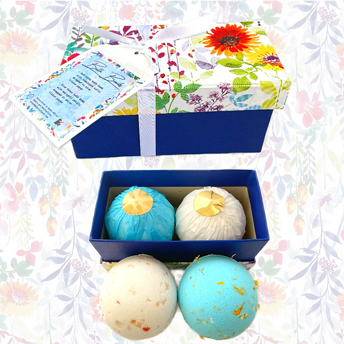 Blue floral gift box