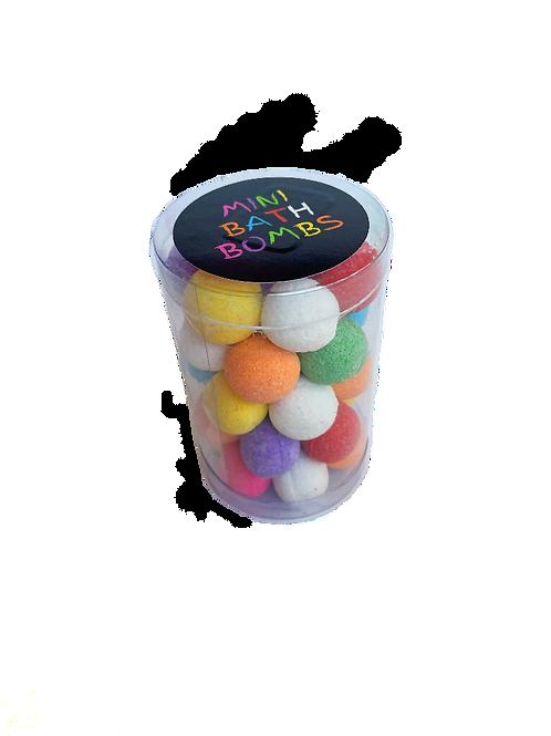 Tub of mini Bath Bombs