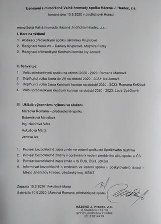 VALNÁ HROMADA 10.9.2020