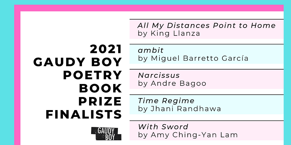 2021 Gaudy Boy Book Prize Finalists Reading