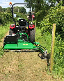 fence post flail mower