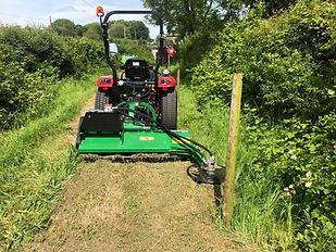 Siromer fence post flail mower