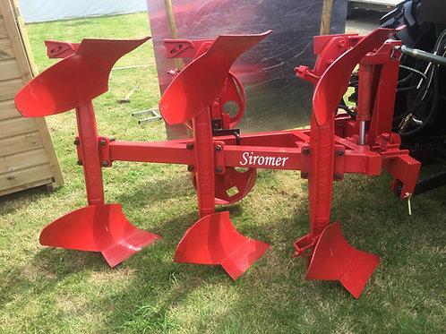 Three furrow reversible plough