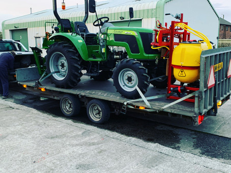 Siromer 40hp delivery with crop sprayer