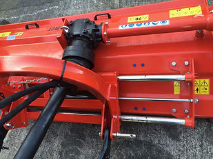 Siromer hydraulic offset flail mower