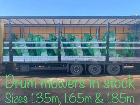 Drum mowers in stock