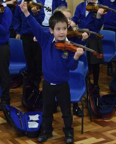 Y2 violin boy