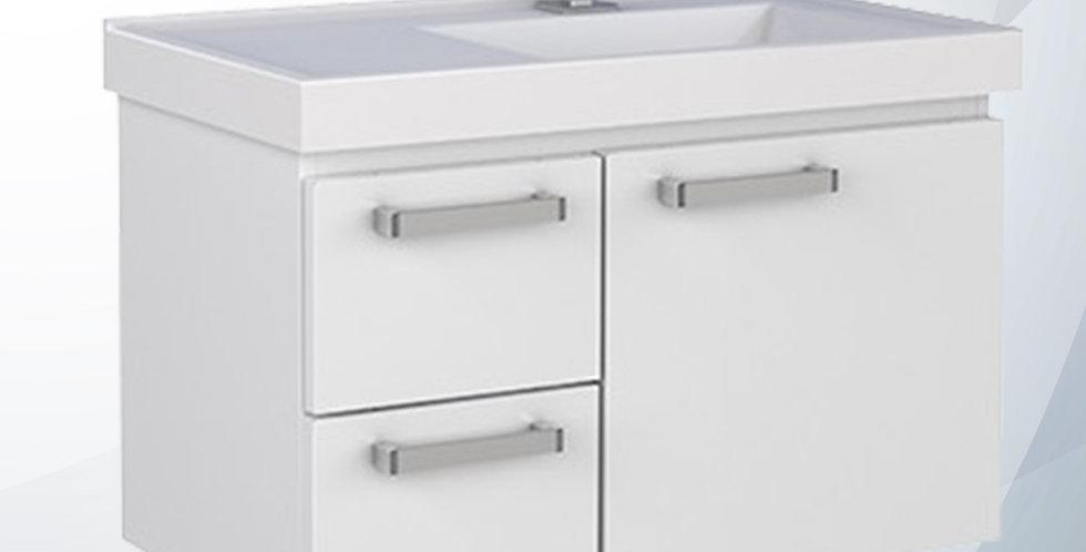 Gabinete Banheiro 0.60cm Romã Branco Aço 87708 - Cozimax