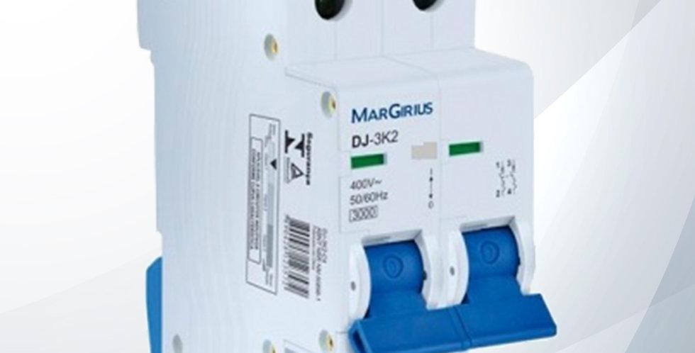 Disjuntor Bipolar 50A DJ-3K2 C50 - Margirius