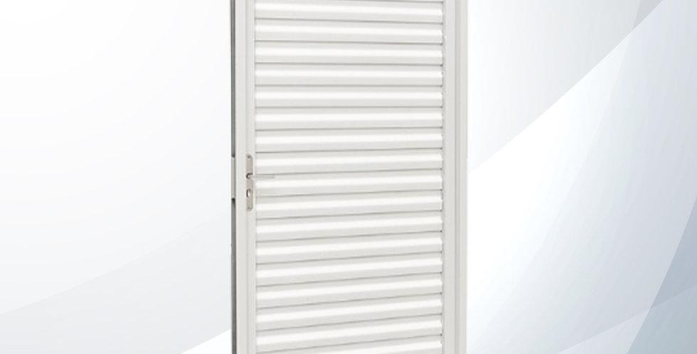Porta Abrir 0.87 Veneziana Kompacta Branca - Sasazaki