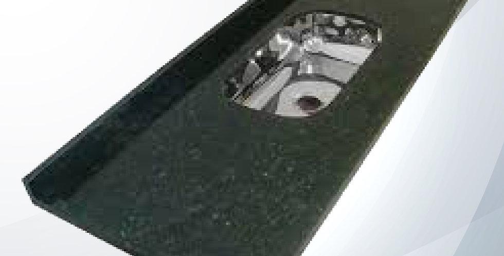 Pia Granitada 1.20m Verde C/ Cuba Inox - Decoralita