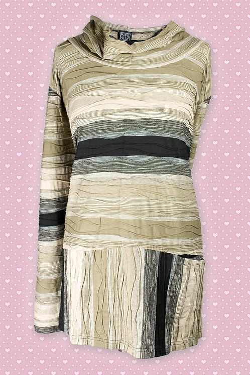 Pont Neuf 'Rita' Green Striped Tunic