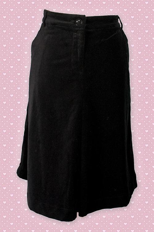 Thought 100% Organic Cotton Black Skirt (Velvet-Feel)