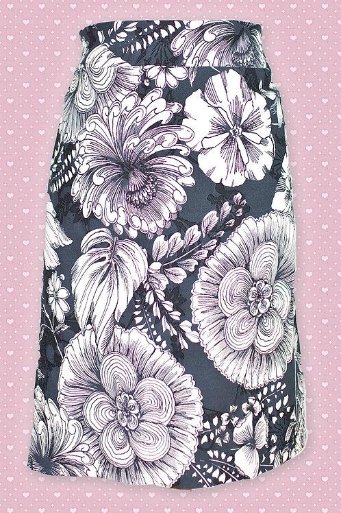 Pomodoro Black & White Etched Skirt