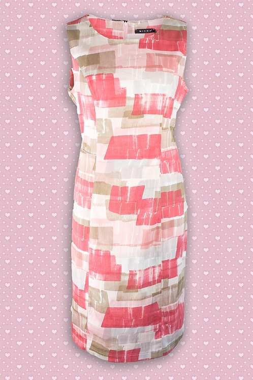 Micha 'Stretch' Patterned Shift Dress