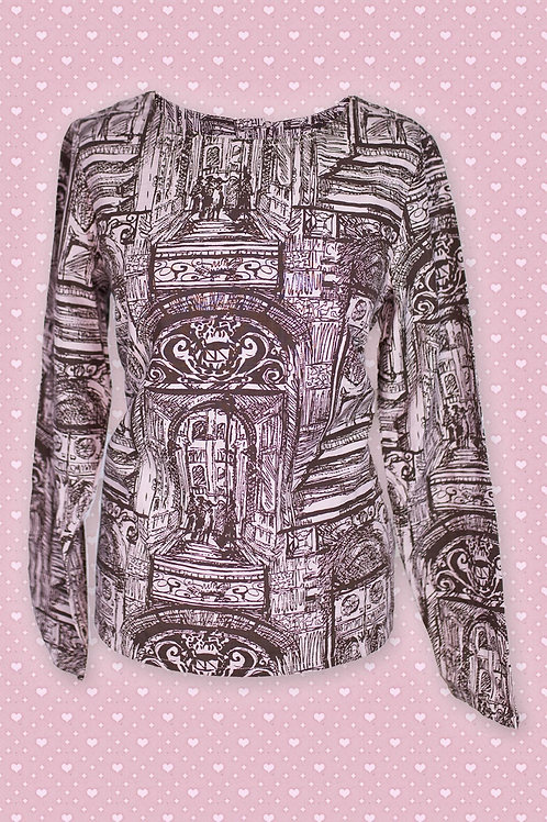 Thought Grey & Black Portico Print Tunic