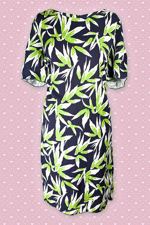 White Vanilla Lime Green Holic Leaf Dress