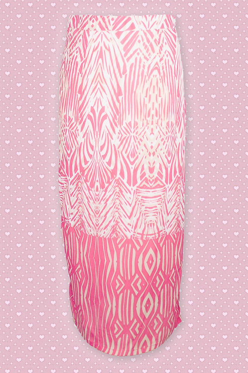 Pomodoro African Print Border Skirt