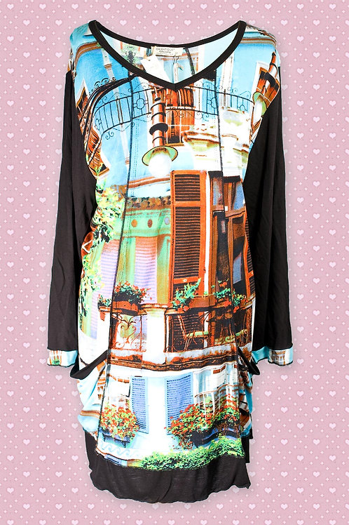 Orientique 'Notting Hill' Artistic Print Tunic