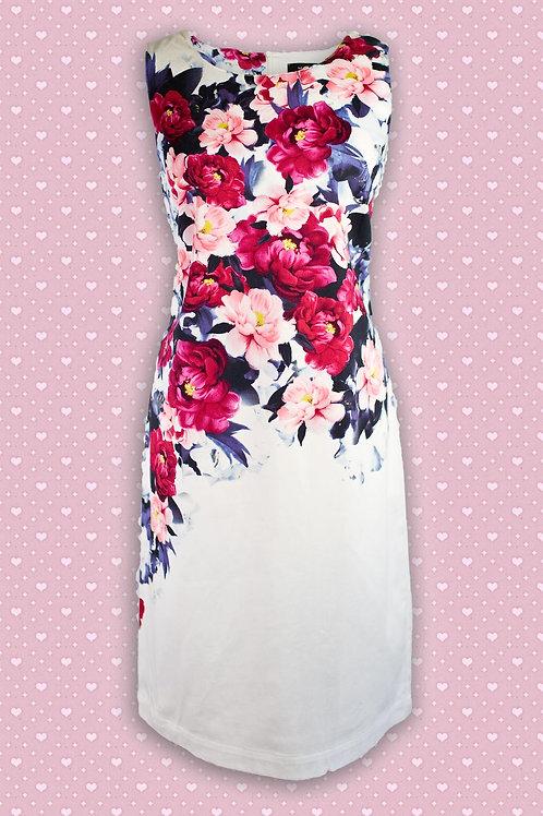 Micha 'Stretch' Floral Shift Dress