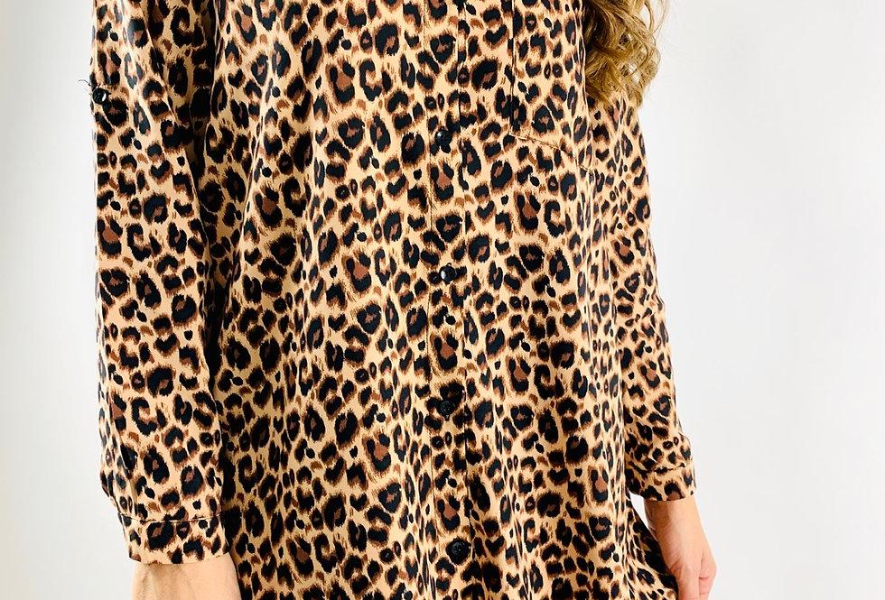 Vestido camisero leopardo VE002