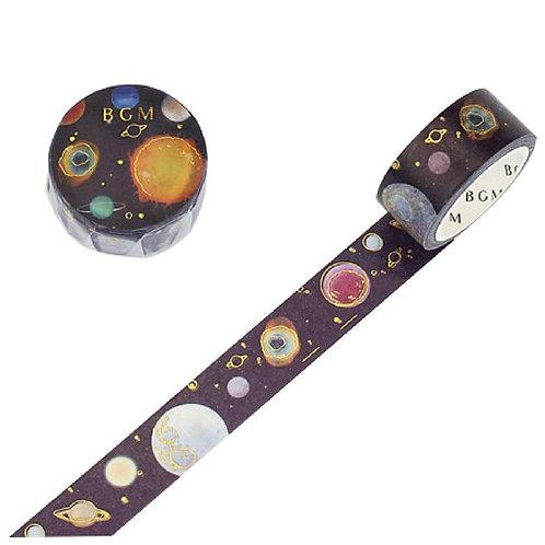 手繪水彩紙膠帶 — 星空系列 - 金色惑星 💫