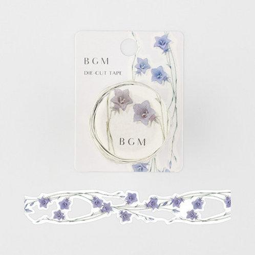 手繪水彩紙膠帶 — 花語系列 - 桔梗💐