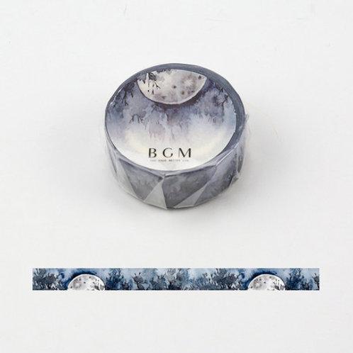 手繪水彩紙膠帶 — 和風四季系列 - 蒼月🎋