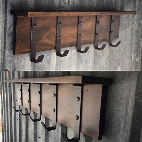 Hardwood Rustic Shelf Rack