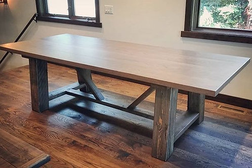 Post and Brace Dining Table