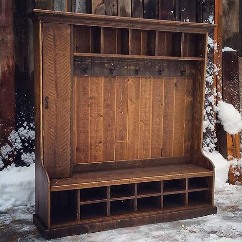 Rustic Cottage Hall Tree Locker