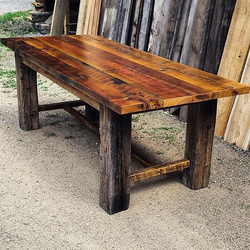 Rustic Farmhouse Trestle Table