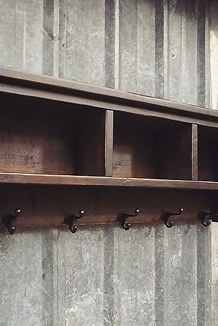 Shelf Cubby Coat Rack