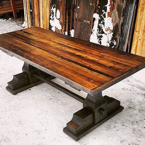 Pedestal Trestle Dining Table