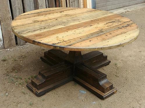 Round Pedestal Trestle Dining Table