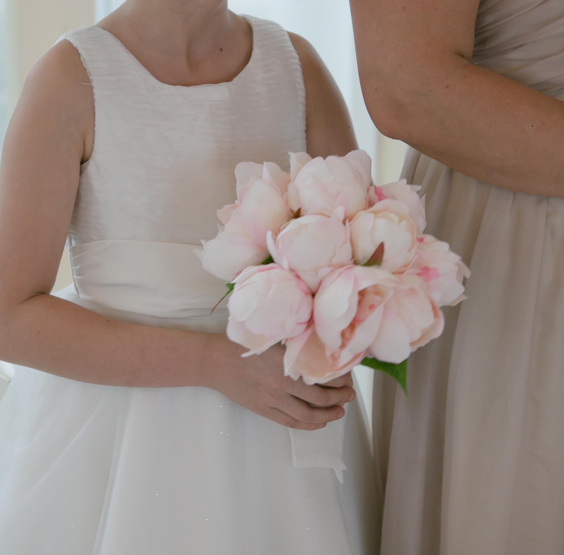 Flowergirl Peony Bouquet