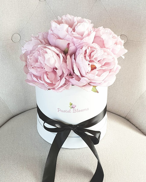 Perfect Pastel Pink Peonies in Gift Box