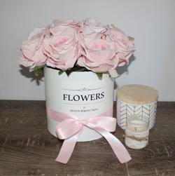 Pink Roses Flower Box