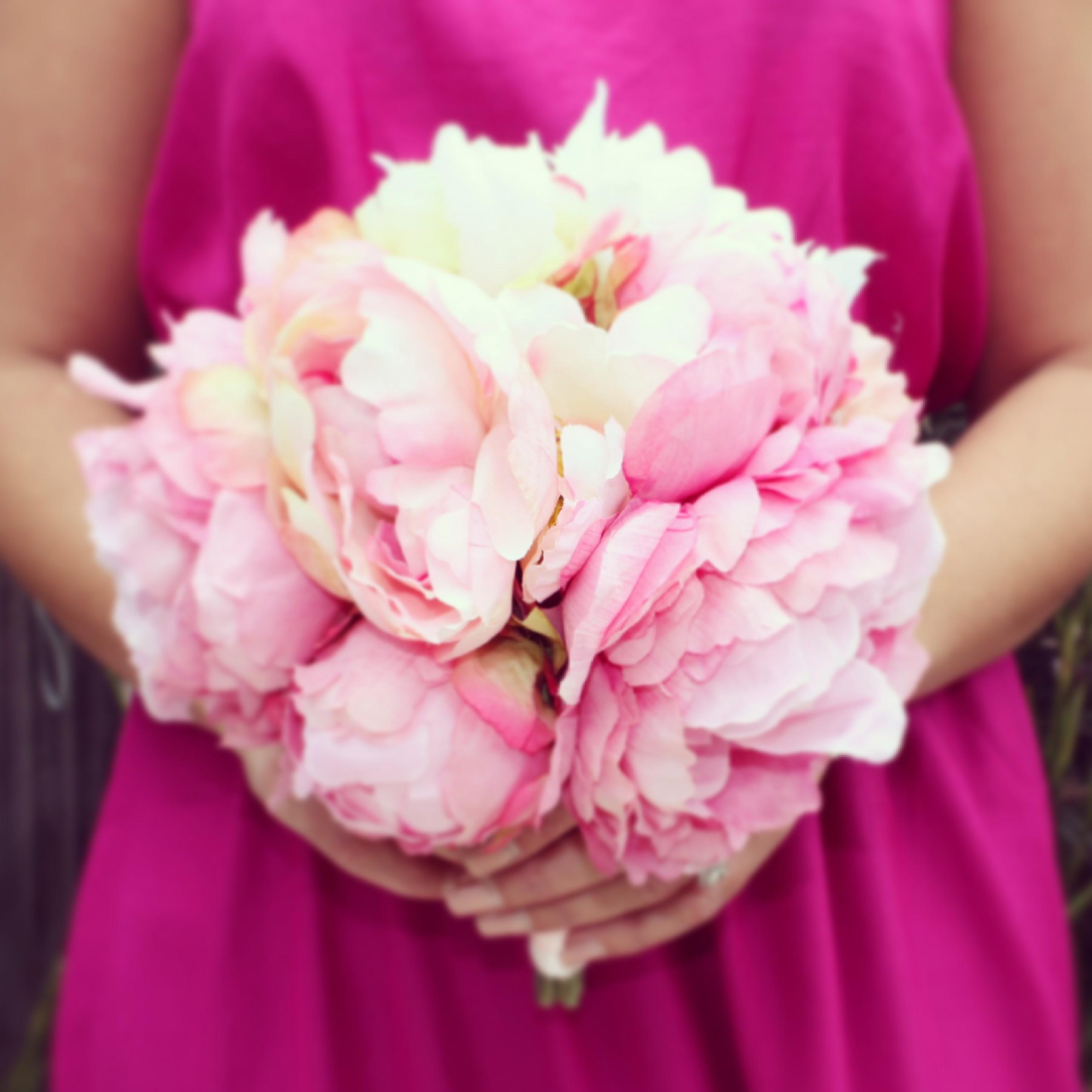 Dark Pink Peony Bouquet