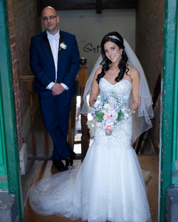 The lovely bride and groom