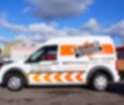 Vehicle signwriting on lowes van