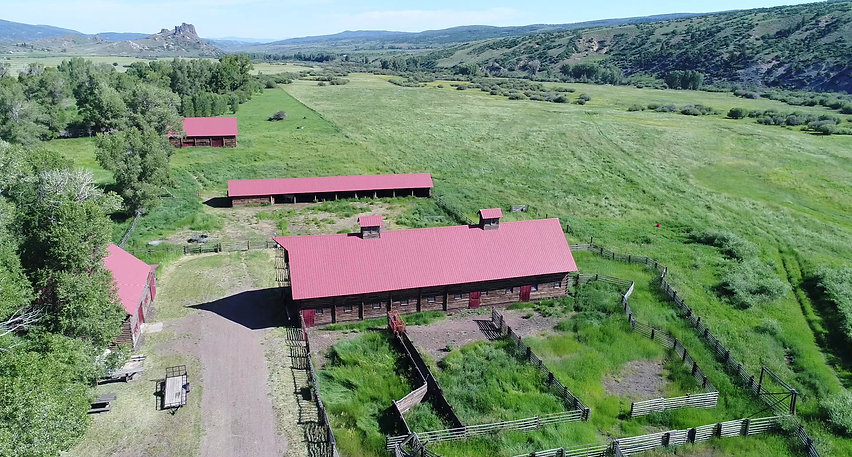 Yampa Valley Ranch Aerial view