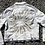 """Thumbnail: """"Clouds Can't Hold Back The Sun"""" White Denim Jacket - XL"""