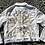 "Thumbnail: ""Clouds Can't Hold Back The Sun"" White Denim Jacket - XL"