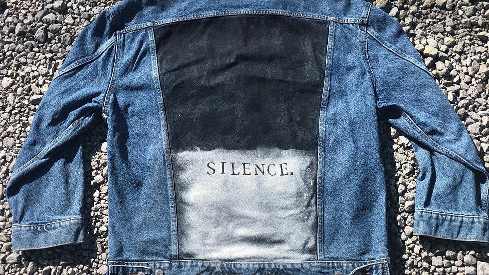 """""""Silence"""" Jean Jacket - Men's L"""