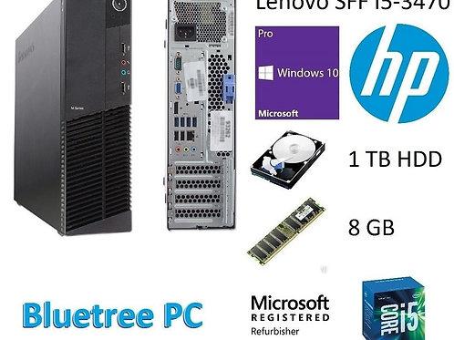 Lenovo SFF Intel Quad Core I5 8GB RAM 1TB HDD Win10 Pro Desktop Computer