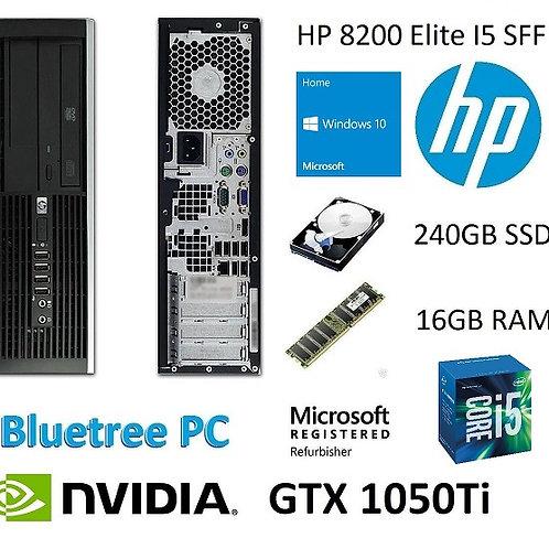 HP 8200 SFF I5 240GB SSD 16GB RAM NVIDIA GTX 1050TI Win 10 Desktop Computer