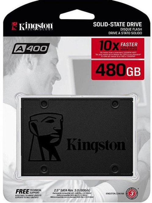 "Kingston A400 (SA400S37/480G) 480GB SATA3 2.5"" SSD Solid State Drive"