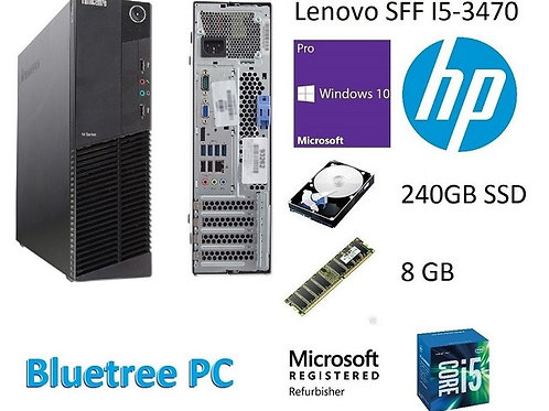 Lenovo SFF Intel Quad Core I5 8GB RAM 240GB SSD Win10 Pro Desktop Computer